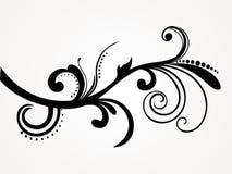 abstrakt blom- illustrationsilhouette Arkivbild