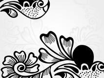 abstrakt blom- illustrationsilhouettevektor Royaltyfria Bilder