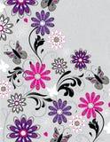 Abstrakt blom- inbjudankort Royaltyfri Bild