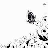 Abstrakt blom- kant stock illustrationer