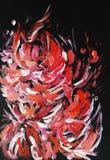 Abstrakt blom- målning Fotografering för Bildbyråer