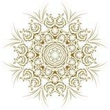 abstrakt blom- mandala Royaltyfri Foto