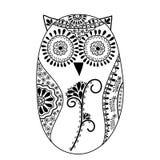 Abstrakt blom- owl, vektor Royaltyfri Fotografi