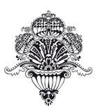 abstrakt blom- prydnadvektor Royaltyfri Bild