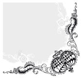 abstrakt blom- prydnadvektor Fotografering för Bildbyråer