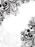 abstrakt blom- ram Arkivbild