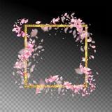 abstrakt blom- ram Arkivfoton