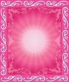 abstrakt blom- ram Royaltyfri Fotografi