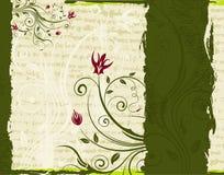 abstrakt blom- ram Arkivbilder