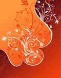 abstrakt blom- ram Arkivfoto