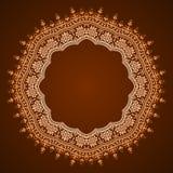 Abstrakt blom- ramdesign Arkivfoto