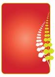 abstrakt blom- ramvektor Arkivfoto