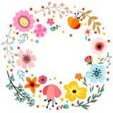 Abstrakt blom- sammansättning, blom- krans Arkivfoton