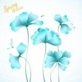 Abstrakt blom- scard Royaltyfri Fotografi