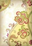 abstrakt blom- scroll Arkivbilder