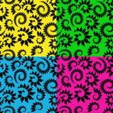 abstrakt blom- seamless stock illustrationer