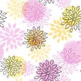 Abstrakt blom- seamless mönstrar stock illustrationer