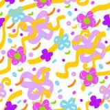 Abstrakt blom- seamless mönstrar Royaltyfria Bilder