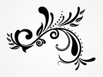 abstrakt blom- silhouette Arkivbild