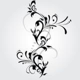 abstrakt blom- silhouette Arkivfoton