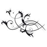 abstrakt blom- swirl vektor illustrationer