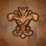 abstrakt blom- swirl träskulpturabstrakt begreppsidor royaltyfri foto