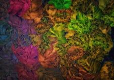 Abstrakt blom-, tappningbakgrund, fragment texturerade breda målarfärgslaglängder för kanfas planlägger för tapeten, gobeläng Royaltyfri Fotografi