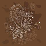 Abstrakt blom- utsmyckat Royaltyfri Fotografi