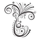 abstrakt blom- vektorvinter royaltyfri illustrationer