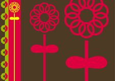 abstrakt blomma vektor illustrationer