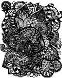Abstrakt blomma för modellvektoremblem vektor illustrationer