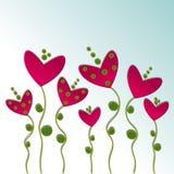 Abstrakt blommabakgrund Royaltyfri Bild