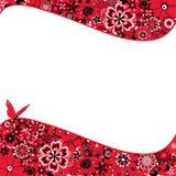 Abstrakt blommabakgrund med en fjäril Arkivfoton