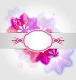 Abstrakt blommabakgrund med kulöra beståndsdelar Royaltyfria Bilder