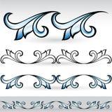 abstrakt blommadatalistleaves vektor illustrationer