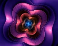 Abstrakt blommafractalform Arkivbild