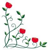 abstrakt blommaillustration royaltyfri illustrationer