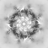 Abstrakt blommamandala på vit bakgrund Royaltyfri Bild