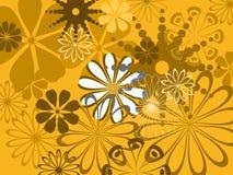 abstrakt blommamodell stock illustrationer