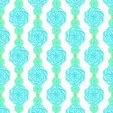 Abstrakt blommamodell i blått och gräsplan Fotografering för Bildbyråer