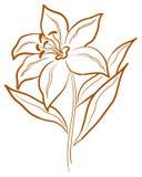 abstrakt blommapictogram Arkivbild