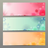 Abstrakt blommavektorbakgrund/broschyrmall/baner Arkivbilder