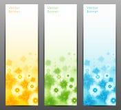 Abstrakt blommavektorbakgrund/broschyrmall/baner. Royaltyfria Foton