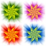 abstrakt blommor Arkivfoton