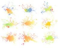 abstrakt blommor royaltyfri illustrationer