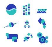 abstrakt bluegreen design vektor illustrationer