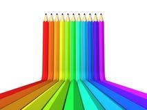 Abstrakt blyertspenna för konstbakgrundsfärg som regnbågen Royaltyfri Fotografi