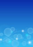 Abstrakt Bokeh bakgrund i blåttfärg Arkivfoto