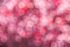Abstrakt bokeh för rosa färger som bakgrund Royaltyfri Bild