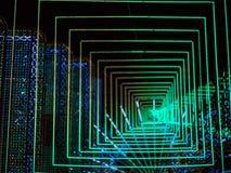 Abstrakt bokeh ledde ljus 3d royaltyfri bild